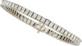 Estate Jewelry:Bracelets, Diamond, Platinum Bracelet . ...