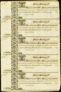Colonial Notes:Maryland, Maryland 1733 15s Complete Sheet of Five Choice About New.. ...