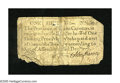 Colonial Notes:North Carolina, North Carolina December, 1771 1s About Good. This rare note has twoclipped corners and a damaged third corner. It also is a...