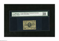 Fractional Currency:Third Issue, Fr. 1238 5c Third Issue PMG Choice About Unc 58 A lightly toned but pleasing example of this green back Clark note that PMG ...