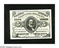"""Fractional Currency:Third Issue, Fr. 1239 5c Third Issue Superb Gem New. An enormously margined Clark green back from this much scarcer """"a"""" plate position wh..."""