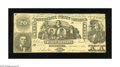 Confederate Notes:1861 Issues, T20 $20 1861. A handful of pinholes are noticed on this $20 thatwas once mounted with pins in each corner. Extremely Fine...