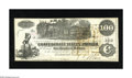 Confederate Notes:1862 Issues, T39 $100 1862. Some handling is spotted in the upper right-hand corner. About Uncirculated....