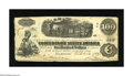 Confederate Notes:1862 Issues, T40 $100 1862. This is a crispy Very Good+ C-note with edge wearthat had its interest paid at the first Confederate cap...