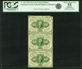 Fractional Currency:First Issue, Fr. 1241 10¢ First Issue Vertical Strip of Three. PCGS ApparentChoice About New 55.. ...