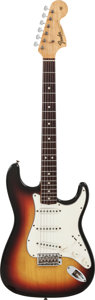 Musical Instruments:Electric Guitars, 1968 Fender Stratocaster Sunburst Solid Body Electric Guitar,Serial #251099....