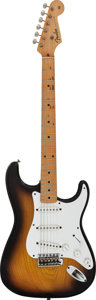 Musical Instruments:Electric Guitars, 1954 Fender Stratocaster Sunburst Solid Body Electric Guitar,Serial #0297....