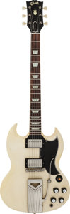 Musical Instruments:Electric Guitars, 1961 Gibson SG Les Paul White Solid Body Electric Guitar, Serial#3278....