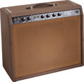 Musical Instruments:Amplifiers, PA, & Effects, 1962 Fender Deluxe Amplifier Brown Guitar Amplifier, Serial # D01448....