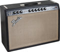Musical Instruments:Amplifiers, PA, & Effects, 1966 Fender Deluxe Reverb Black Guitar Amplifier, Serial # A15259....