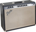Musical Instruments:Amplifiers, PA, & Effects, 1967 Fender Vibrolux Reverb Black Guitar Amplifier, Serial #A09007....