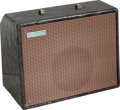 Musical Instruments:Amplifiers, PA, & Effects, Circa 1955 Magnatone Varsity Deluxe Gray Pearloid GuitarAmplifier....