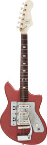 Musical Instruments:Electric Guitars, Circa Late 1960s Goya Red Solid Body Electric Guitar....