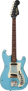 Musical Instruments:Electric Guitars, Circa-1966 Hagstrom I Blue Solid Body Electric Guitar, Serial#620648....
