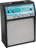 Musical Instruments:Amplifiers, PA, & Effects, Circa Late 1960s Supro Trojan Black Guitar Amplifier, #71084....