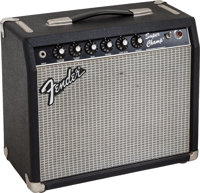 1984 Fender Super Champ Black Guitar Amplifier, Serial # F414200