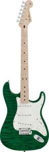 Musical Instruments:Electric Guitars, 2014 Fender Stratocaster Emerald Solid Body Electric Guitar, #R75112....