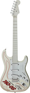 Musical Instruments:Electric Guitars, 2001 Fender Stratocaster Silver Solid Body Electric Guitar,#DZ0256518....