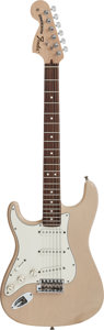 Musical Instruments:Electric Guitars, 2007 Fender Stratocaster Blonde Solid Body Electric Guitar,#Z7272505....