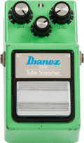 Musical Instruments:Amplifiers, PA, & Effects, 1982 Ibanez TS-9 Tube Screamer Green Effect Pedal, #279274....