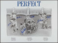 Autographs:Others, New York Yankees Perfect Game Pitchers & Catchers Multi-Signed Lithograph Limited to 200. ...