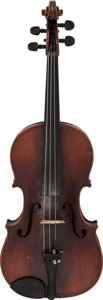 Musical Instruments:Violins & Orchestra, Circa 1920-30s Czech Stradivarius Copy Brown Viola....