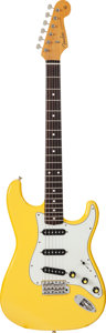 Musical Instruments:Electric Guitars, 2005 Fender Stratocaster Graffiti Yellow Solid Body ElectricGuitar, Serial # R090603....