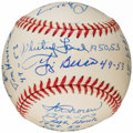 Autographs:Baseballs, New York Yankees Greats Multi-Signed Baseball (18 Signatures)....