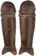 Baseball Collectibles:Others, Vintage Catcher Shin Guards. ...