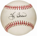 Autographs:Baseballs, Yogi Berra Single Signed Baseball. ...