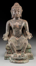 Asian:Chinese, A Thai Bronze Seated Buddha Figure. 13-7/8 inches high (35.2 cm)....