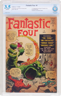Fantastic Four #1 (Marvel, 1961) CBCS VG- 3.5 Off-white pages