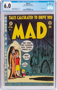 MAD #1 Bill Elder File Copy (EC, 1952) CGC FN 6.0 White pages