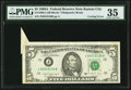 Error Notes:Foldovers, Fr. 1980-J $5 1988A Federal Reserve Note. PMG Choice Very Fine 35.....
