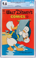 Golden Age (1938-1955):Cartoon Character, Walt Disney's Comics and Stories #146 (Dell, 1952) CGC NM+ 9.6Off-white to white pages....