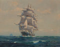 Fine Art - Painting, American, Frank Vining Smith (American, 1879-1967). The StatelyClipper. Oil on canvasboard. 16 x 20 inches (40.6 x 50.8 cm).Sign...