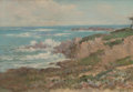 Fine Art - Painting, American:Modern  (1900 1949)  , William Franklin Jackson (American, 1850-1936). BreakingWaves. Oil on canvas. 14 x 20 inches (35.6 ...