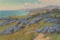 Fine Art - Painting, American:Modern  (1900 1949)  , John Marshall Gamble (American, 1863-1957). Wild Heliotrope nearSan Juan Capistrano. Oil on board. 20 x 30 inches (50.8...