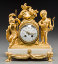 Clocks & Mechanical:Clocks, A French Second Empire Gilt Bronze Clock Retailed by Tiffany & Co., late 19th century. Marks to movement: MEDAILLE D'ARGEN... (Total: 3 Items)