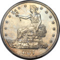 Trade Dollars, 1877-CC T$1 MS64 PCGS....
