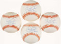 "Autographs:Baseballs, Cal Ripken Jr ""HOF 2007"" Single Signed Baseballs Lot of 4...."