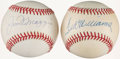 Autographs:Baseballs, Joe DiMaggio and Ted Williams Single Signed Baseballs (2)....