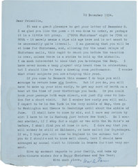 T. S. Eliot. Collection of Thirteen Typed Letters, Signed, Written to His Niece, Priscilla Talcott (later Fourcher)
