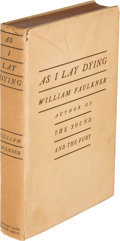 Books:Literature 1900-up, William Faulkner. As I Lay Dying. New York: Jonathan Cape:Harrison Smith, [1930]. First edition, first state of ini...