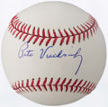 Autographs:Baseballs, Pete Vuckovich Single Signed Baseball....