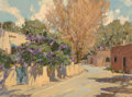 Fine Art - Painting, American, Irby Brown (American, b.1928). Spring in Santa Fe. Oil oncanvas. 18 x 24 inches (45.7 x 61.0 cm). Signed lower left:...