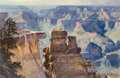 Fine Art - Painting, American, Earl Carpenter (American, b. 1931). Grand Canyon, 1981.Mixed media on paper laid on board. 15-1/8 x 22-1/4 inches (38.4...