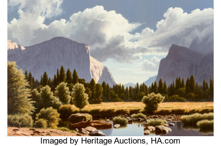 James Fetherolf (American, 1925-1994)Valley Guardians IIOil on canvas24 x 36 inches (61.0 x 91.4 cm)Signed lower...