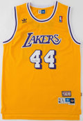 Basketball Collectibles:Uniforms, Jerry West Signed Los Angeles Lakers Jersey. ...