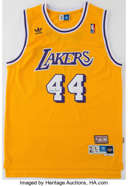 quality design 56abc f9f6e Jerry West Signed Los Angeles Lakers Jersey. ... Basketball ...